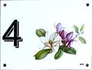 numéro de maison émaillé avec magnolia