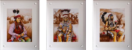 """collection """"les Indiens d'Amérique"""" - Manufacture Vosgienne d'Émaillage"""
