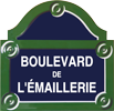 Plaque de rue émaillée - Manufacture Vosgienne d'Émaillage