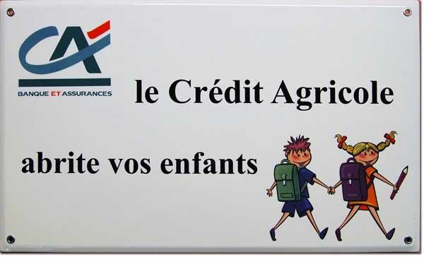 panneaux émaillés pour le Crédit Agricole © Manufacture Vosgienne d'Émaillage