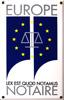 Plaque notariale émaillée - Manufacture Vosgienne d'Émaillage