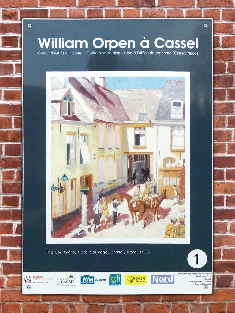 Panneaux émaillés William Orpen à Cassel